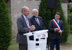 Inauguration mur anti-bruit à Houssen. 16 juillet 2020